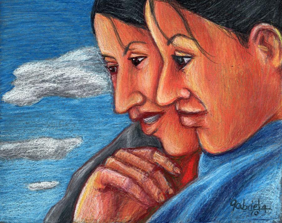 Sisters Painting - Sisters by Gabriela Nunez