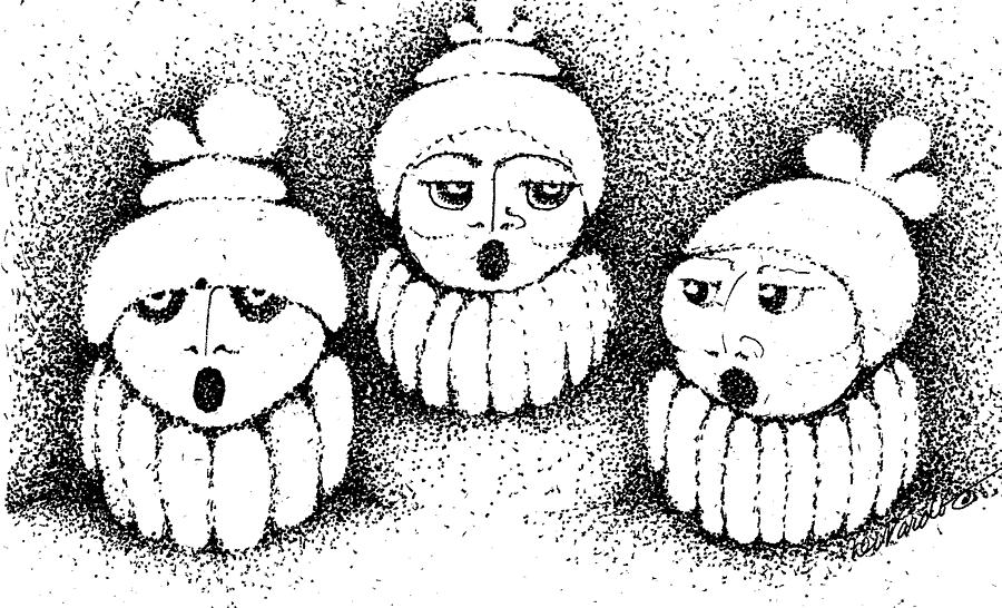 Design Drawing - Sisters In Harmony by Joy Bradley