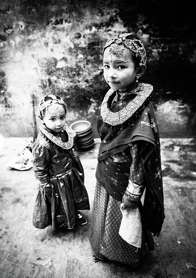 Documentary Photograph - Sisters In Nepal by Toru Matsunaga