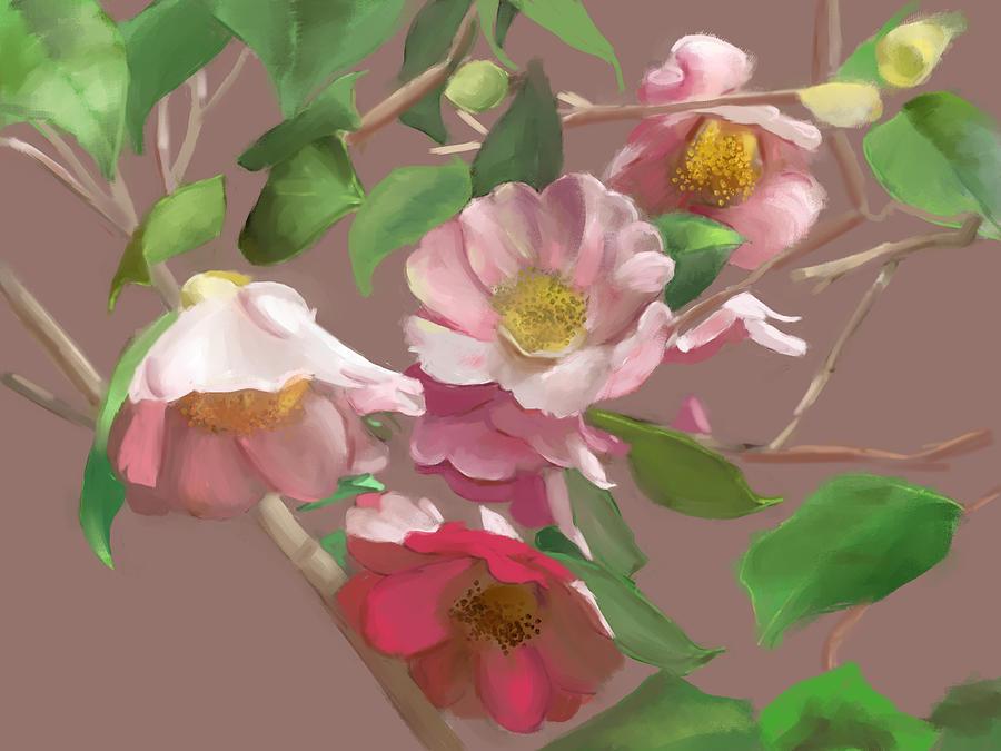 Flowers Mixed Media - Sisters by Karen Sperling