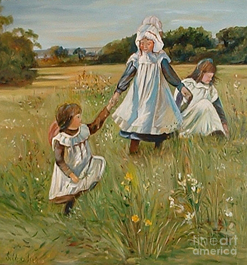 Masterpieces Painting - Sisters by Silvana Abel