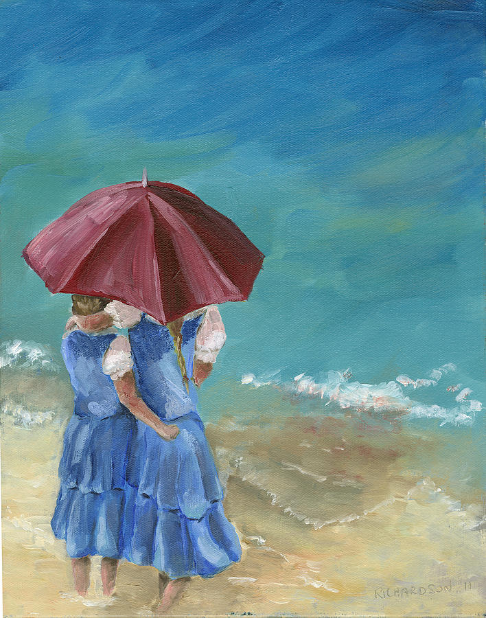 Children Painting - Sisters by Susan Richardson