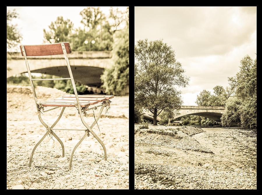 Bridge Photograph - Sit Down... Black by Hannes Cmarits