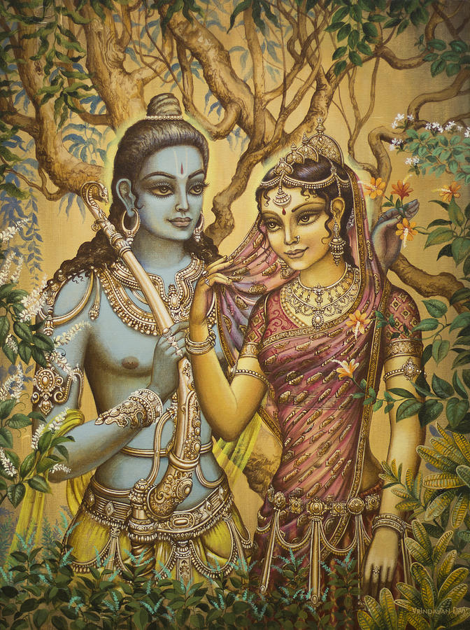 Sita Painting - Sita And Ram by Vrindavan Das