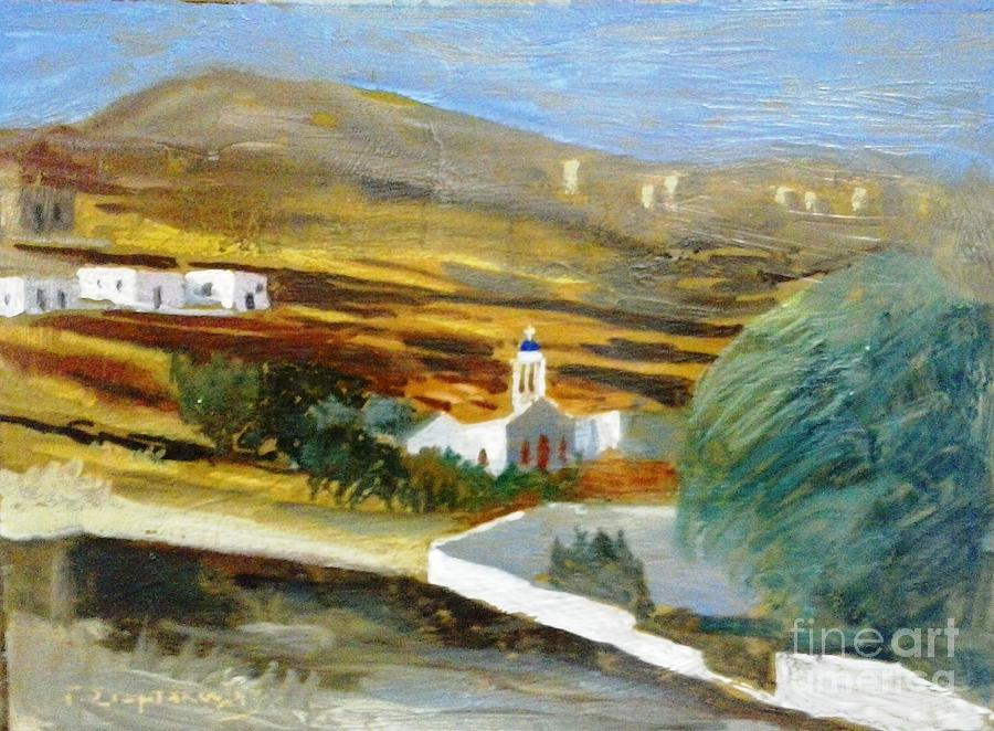 Tinos.tinos Island.greek Island Tinos. Painting - Site From Tinos Island by George Siaba