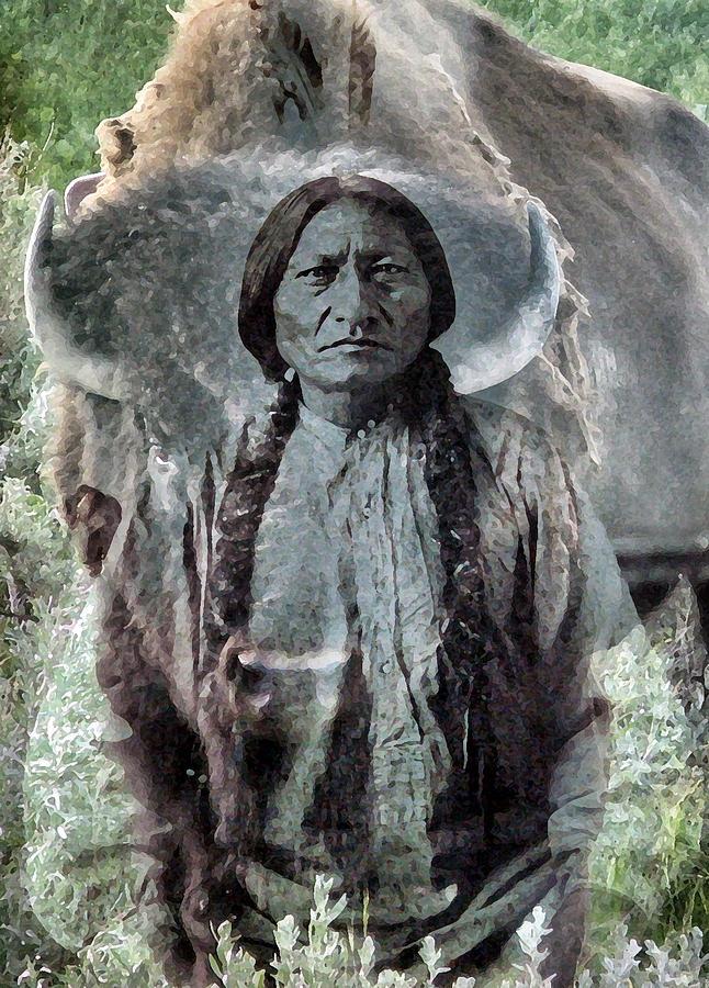Lakota Photograph - Sitting Bull . Lakota Sioux Holy Man by Patricia Januszkiewicz