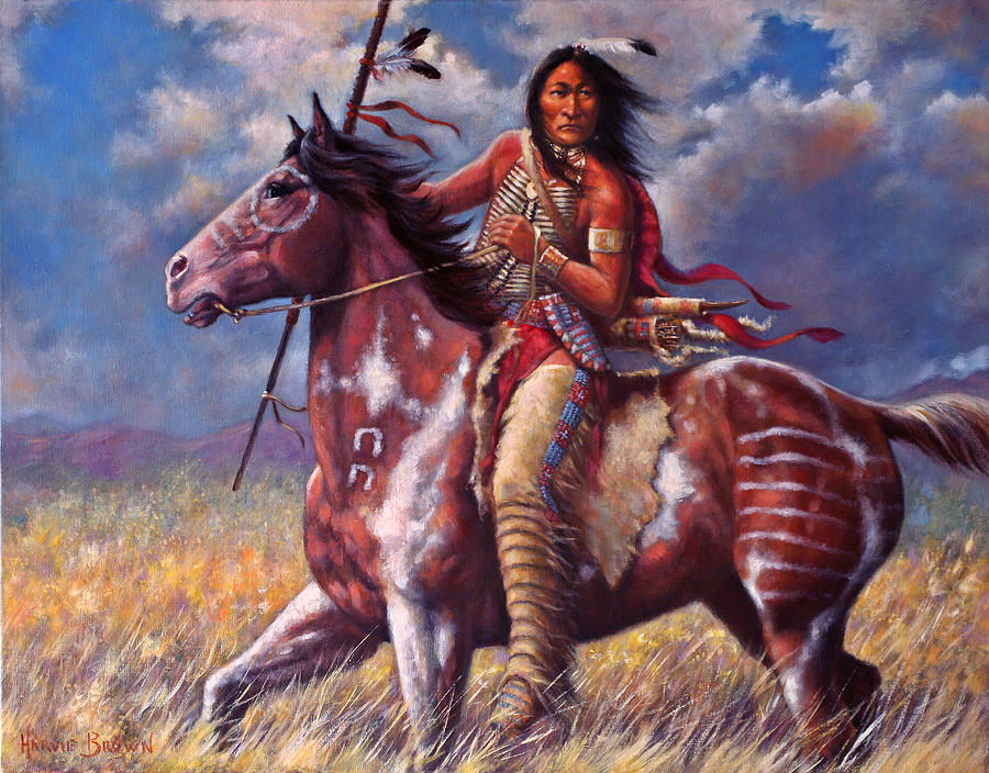 Sitting Bull Painting By Harvie Brown