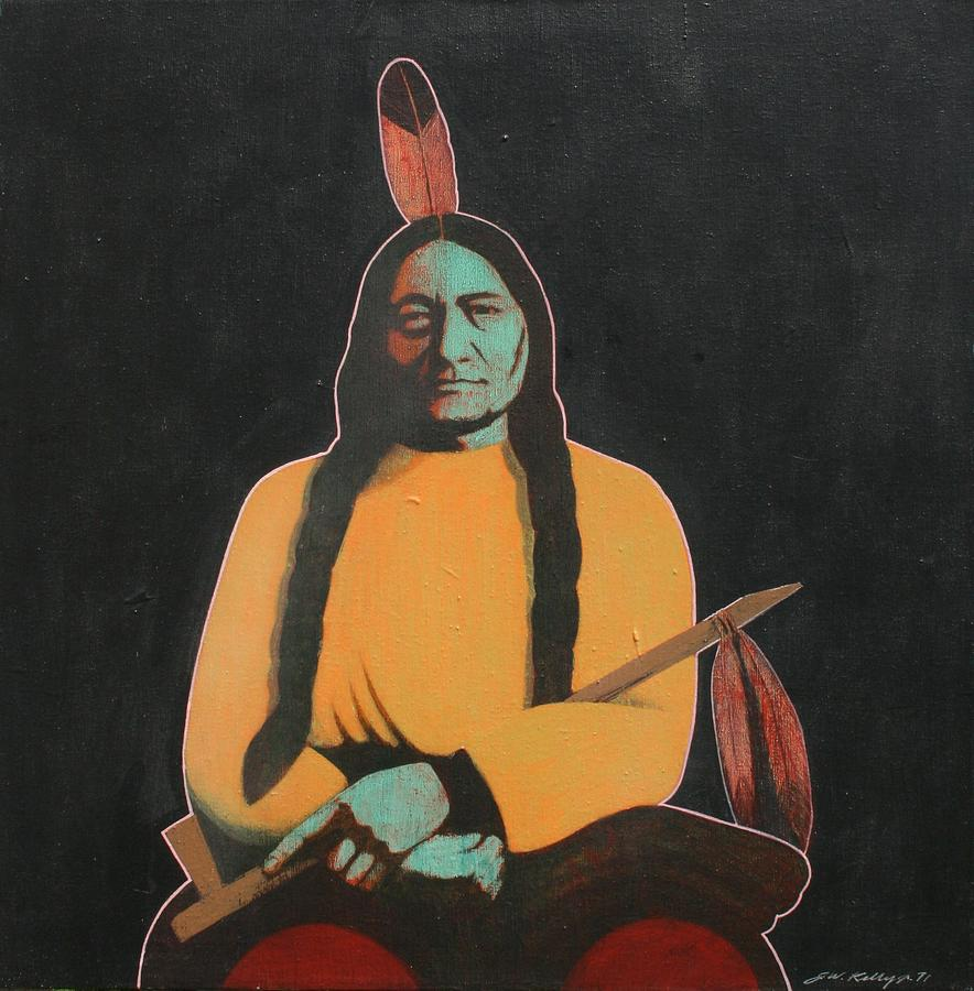 Sitting Bull Painting - Sitting Bull by J W Kelly