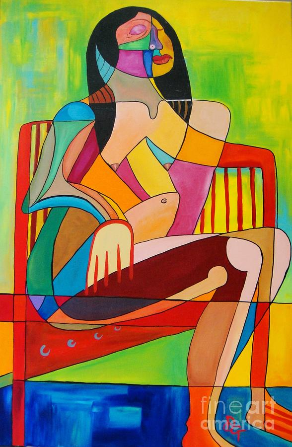 Sitting Painting - Sitting In The Sun by Deborah Glasgow
