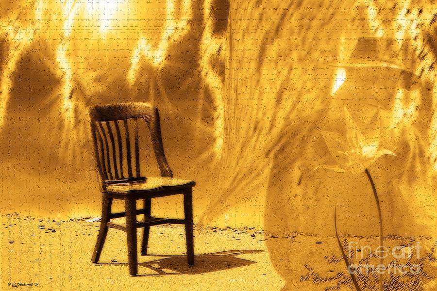 Cathy Beharriell Digital Art - Sitting On Edge by Cathy  Beharriell