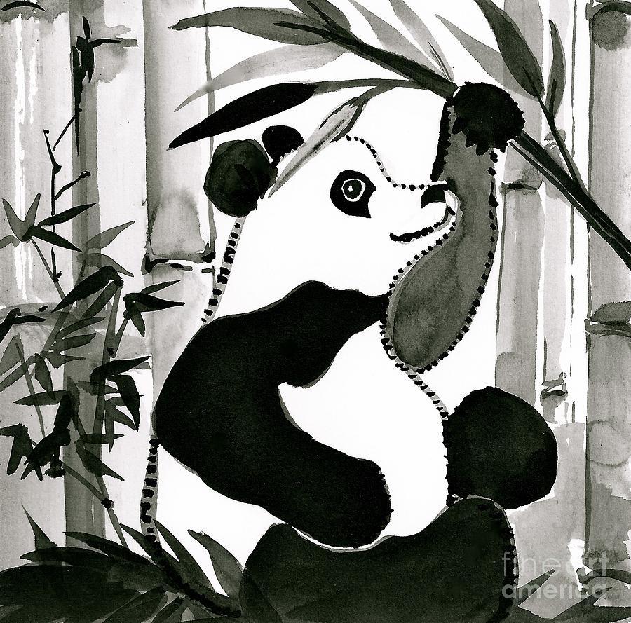Sitting Panda Painting
