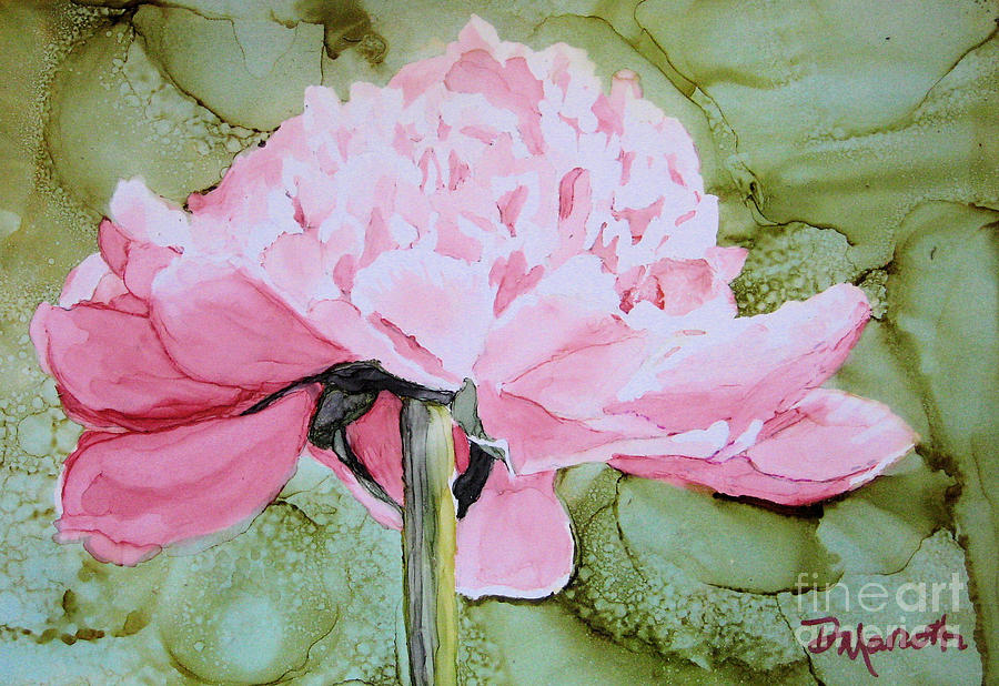 Peony Painting - Sitting Pretty by Diane Marcotte