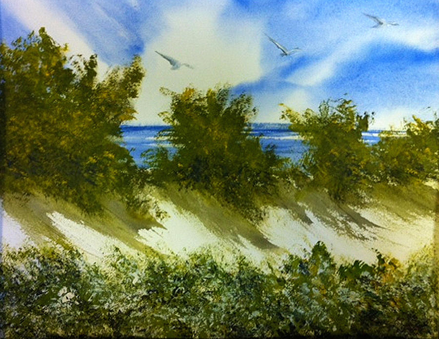 Sitting Still Painting by Karen  Condron