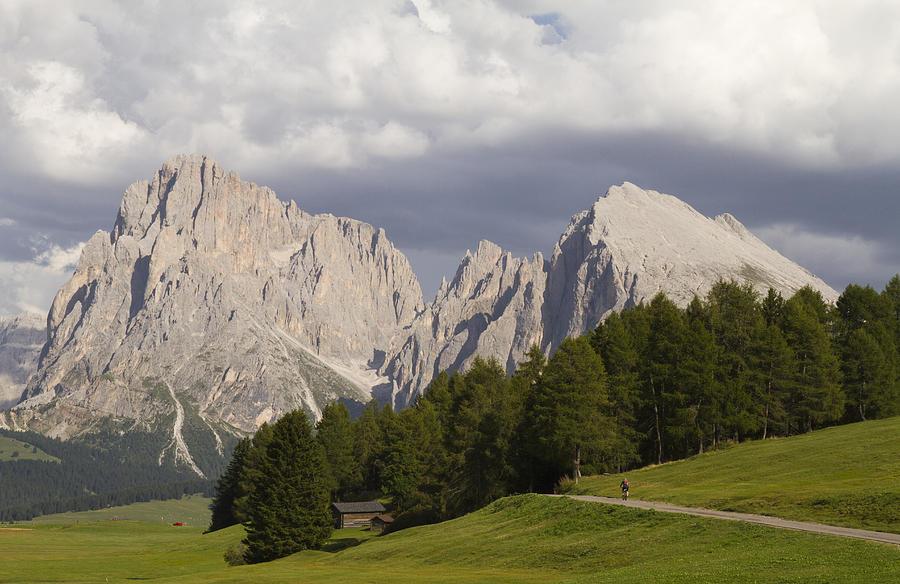 Alp Photograph - Siusi Alp - Dolomites by Pier Giorgio Mariani