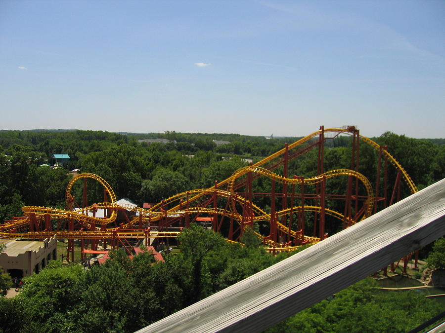 Six Photograph - Six Flags America - Wild One Roller Coaster - 121211 by DC Photographer