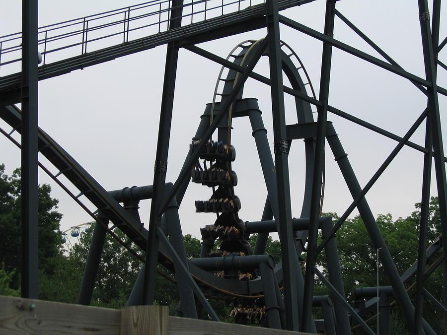 Six Photograph - Six Flags Great Adventure - Medusa Roller Coaster - 12124 by DC Photographer