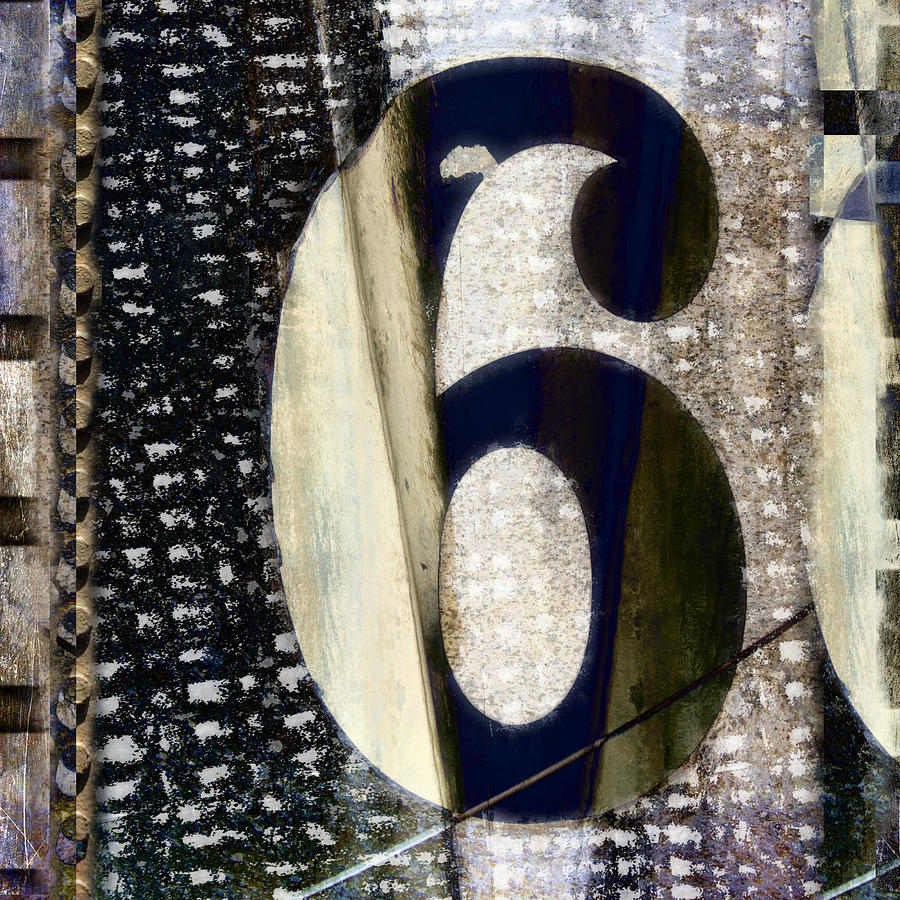 Number Photograph - Six On The Line by Carol Leigh