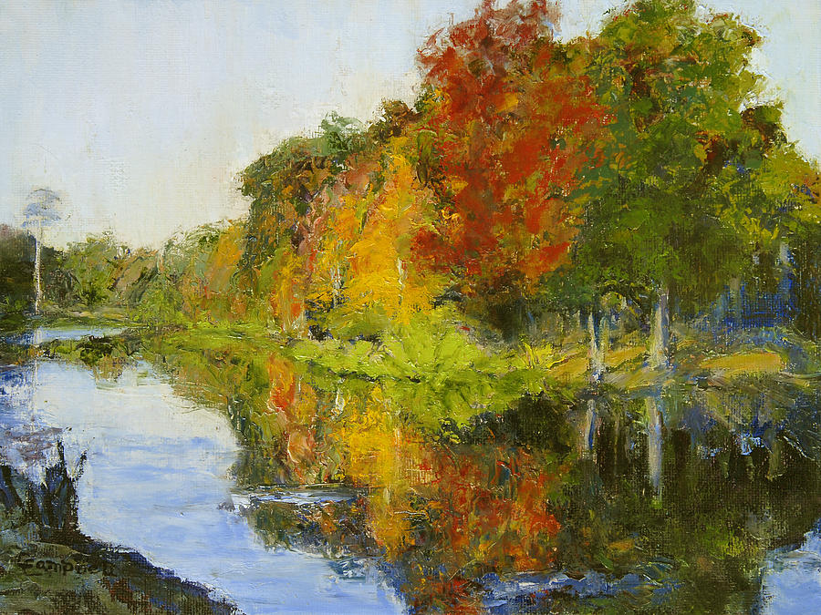 Landscape Painting - Six Reflections by Cecelia Campbell