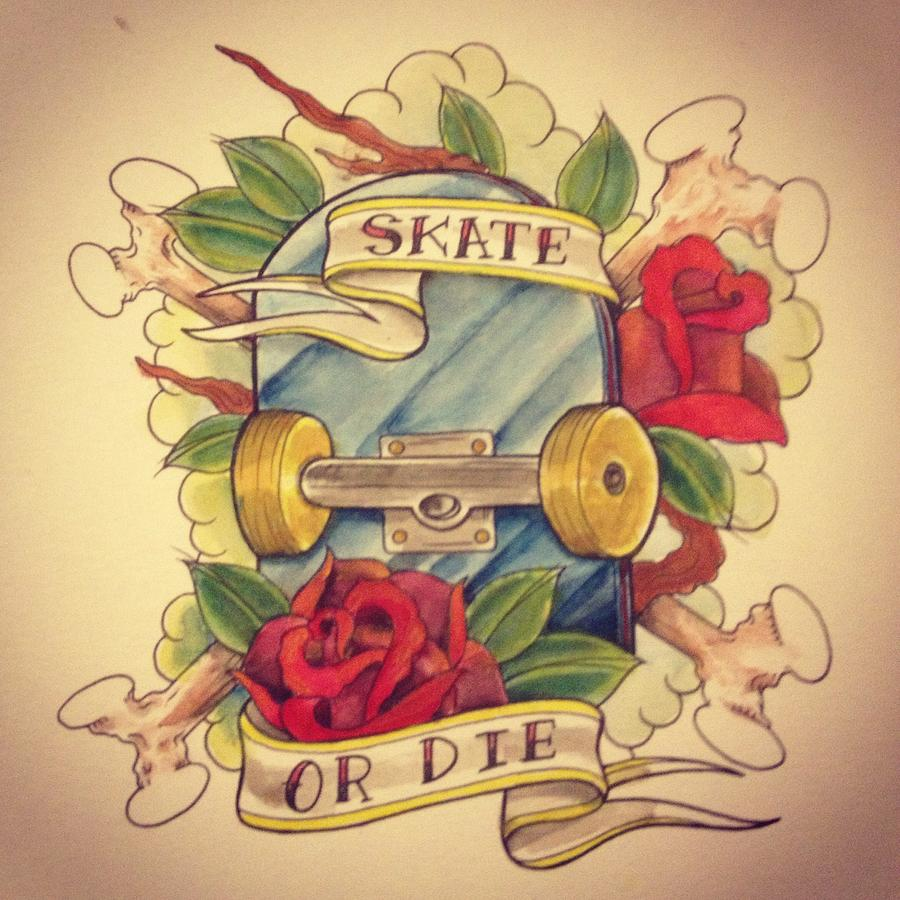 Skate Or Die Painting by Jon Mcclanahan