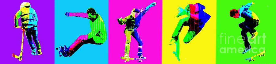 Skate Boarders Photograph - Skateboarders by Michelle Orai