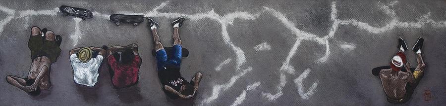 Skater Drawing - Skater Boys by Cristel Mol-Dellepoort