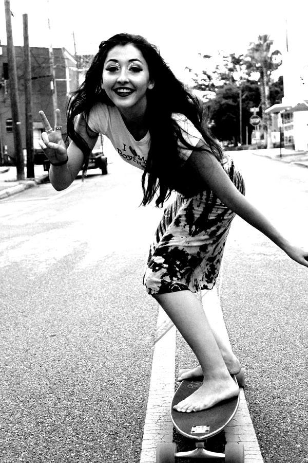 Skater Girl Photograph by Justin King