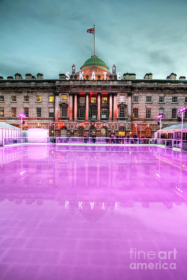 Ice Rink Photograph - Skating At Somerset House by Jasna Buncic