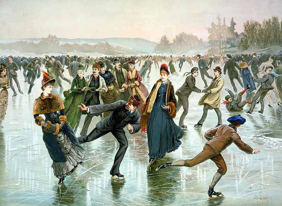 Skating Digital Art - Skating by Hy Sandham