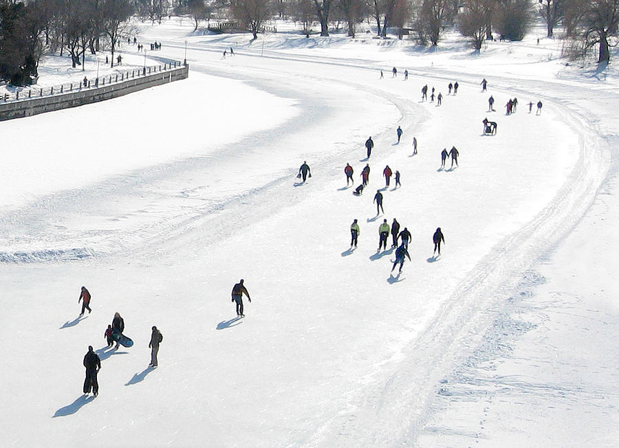 Skating on Dows Lake Rideau Canal by Rob Huntley