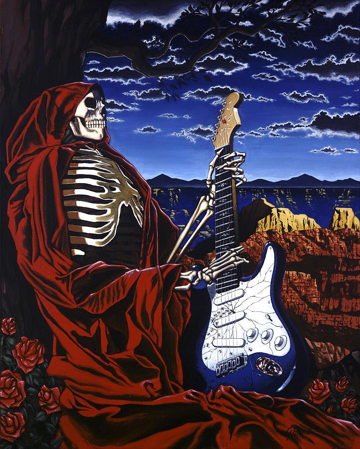 Grateful Dead Painting - Skeleton Dream by Gary Kroman