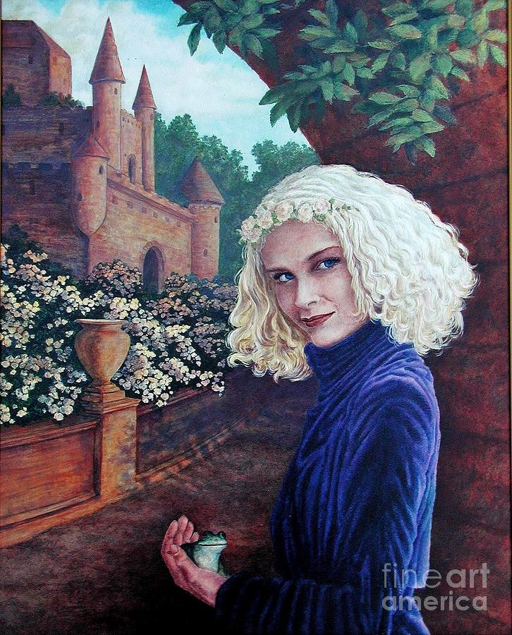 Golden Hair Painting - Skeptical Princess by Laura Sapko