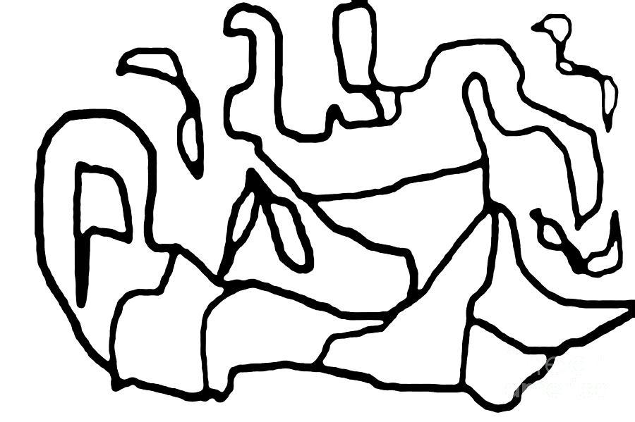 Bold Line Digital Art - Sketch 13 by Meenal C