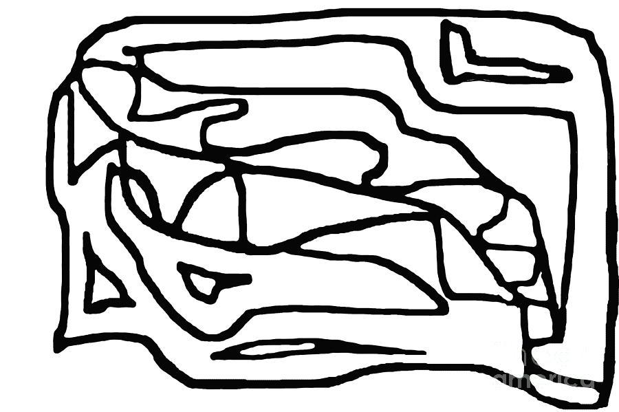 Black And White Digital Art - Sketch 15 by Meenal C