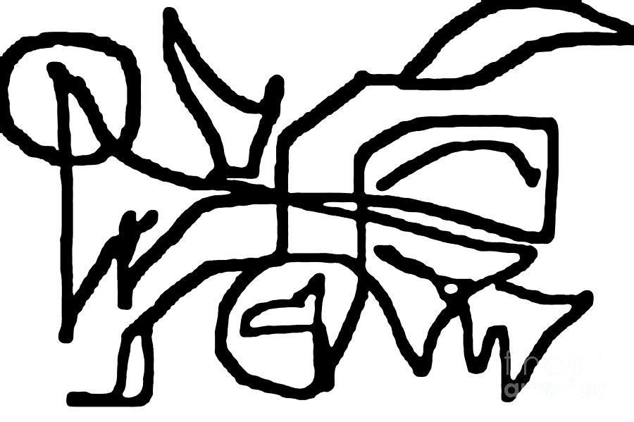 Bold Digital Art - Sketch  16 by Meenal C