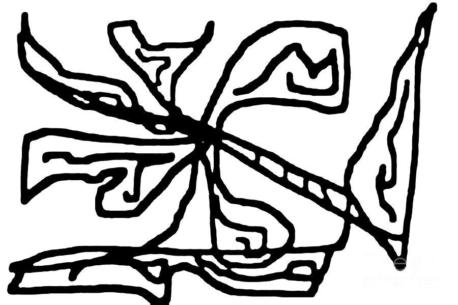 Bold Digital Art - Sketch 18 by Meenal C