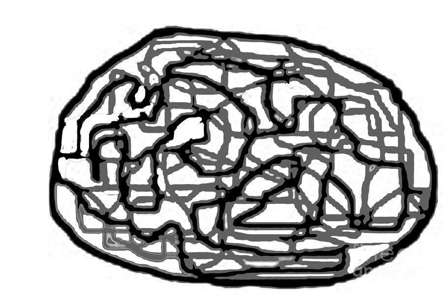 Bold Digital Art - Sketch 20 by Meenal C