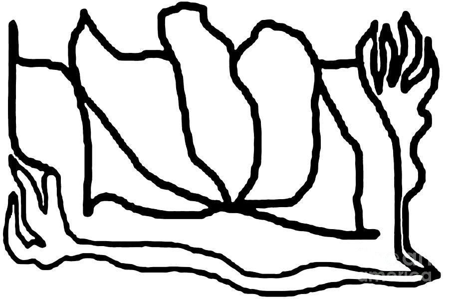 Line Digital Art - Sketch 9 by Meenal C