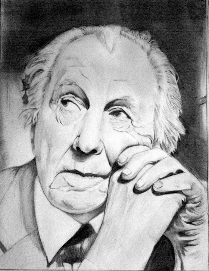 Frank Lloyd Wright Portrait Prepossessing Sketch Art Drawingaanchal Verma  Decorating Inspiration