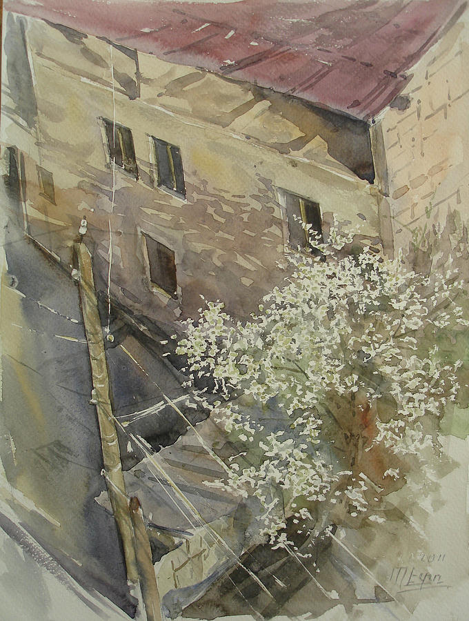 City Painting - Sketch From The 6th Floor by Peto Poghosyan
