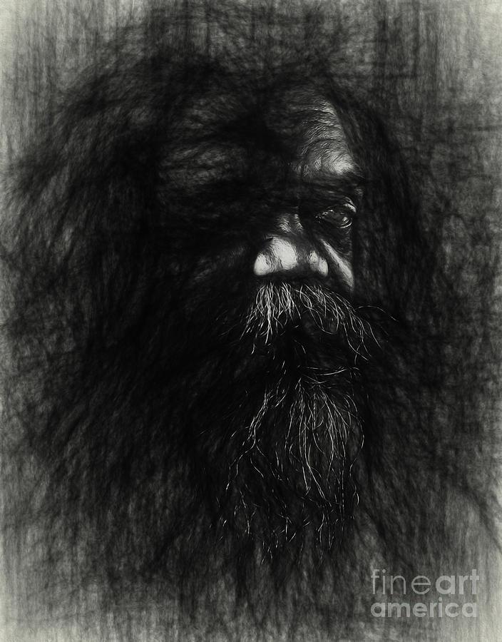 Australian Aborigine Photograph - Sketch Of An Aborigine by Sheila Smart Fine Art Photography