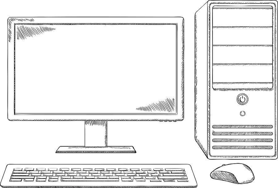 Computer Keyboard Sketch Drawing Max Installer