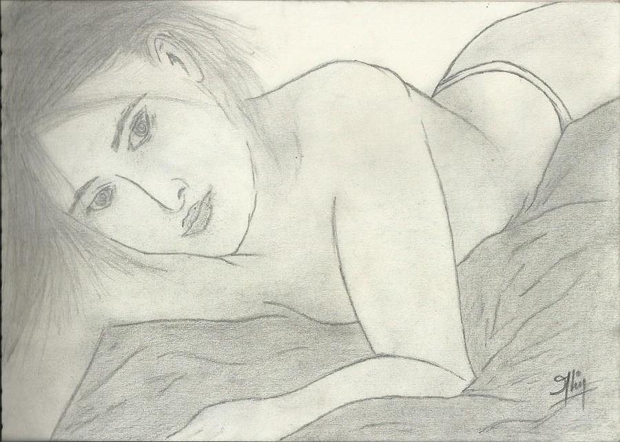 Hot Woman Drawing - Sketch2 by Saleem Baig