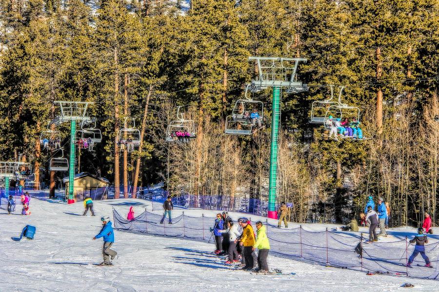 Skiers Photograph - Ski Day by Tammy Espino
