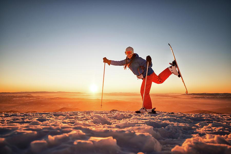 Ski Exercise Photograph by Extreme-photographer