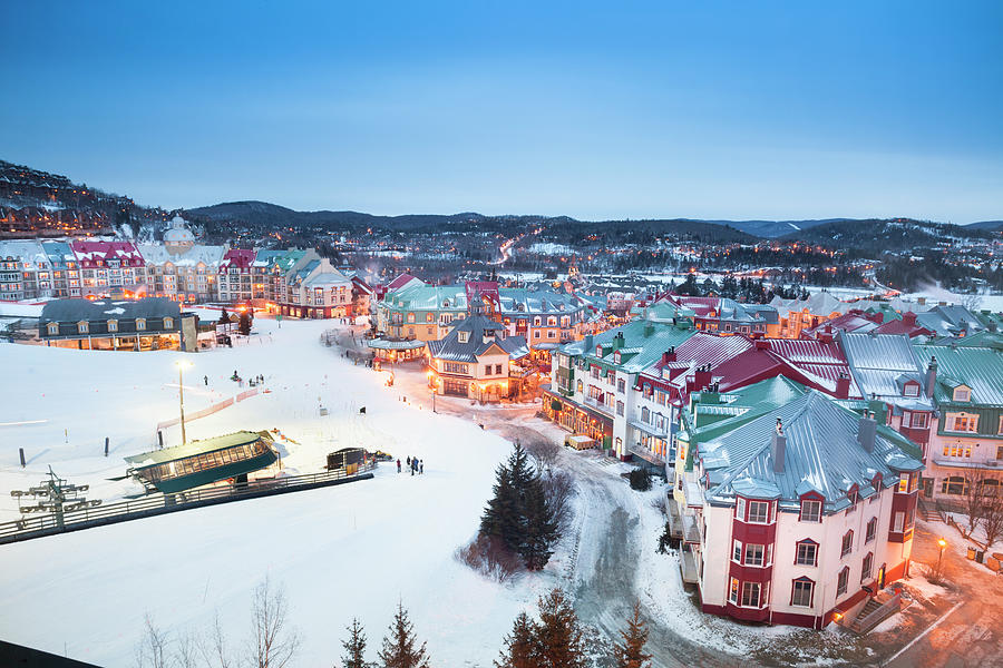 Ski Lifts At Mont Tremblant Village Photograph by Pgiam