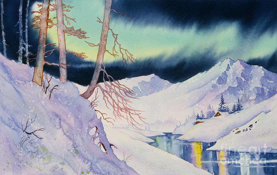 Cabin Painting - Ski Trail by Teresa Ascone