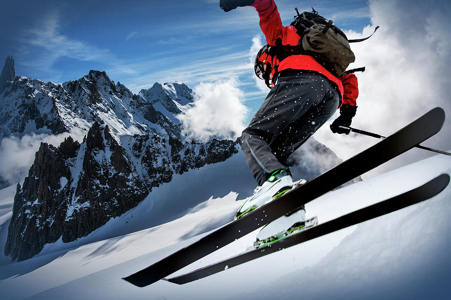 Skier In The Mont Blanc Region Photograph by Buena Vista Images