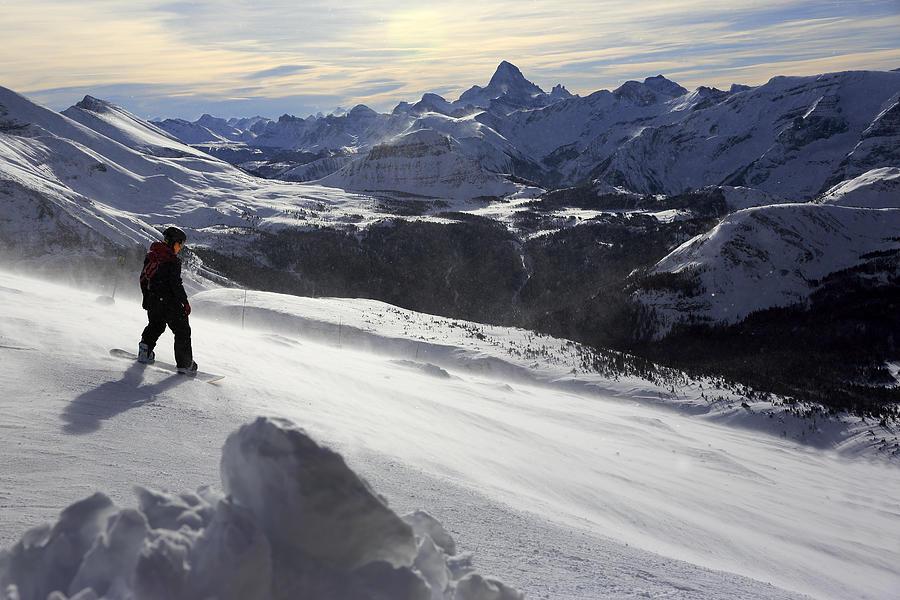 Skier On Alpine Ski Slope Photograph by Bruce Yuanyue Bi