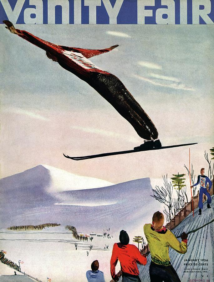 Ski Jump On Vanity Fair Cover Photograph by Deyneka