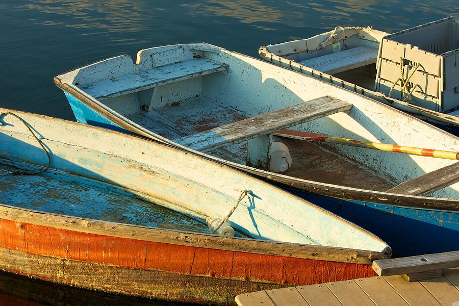 Skiffs Rockport Harbor Photograph by Gail Maloney